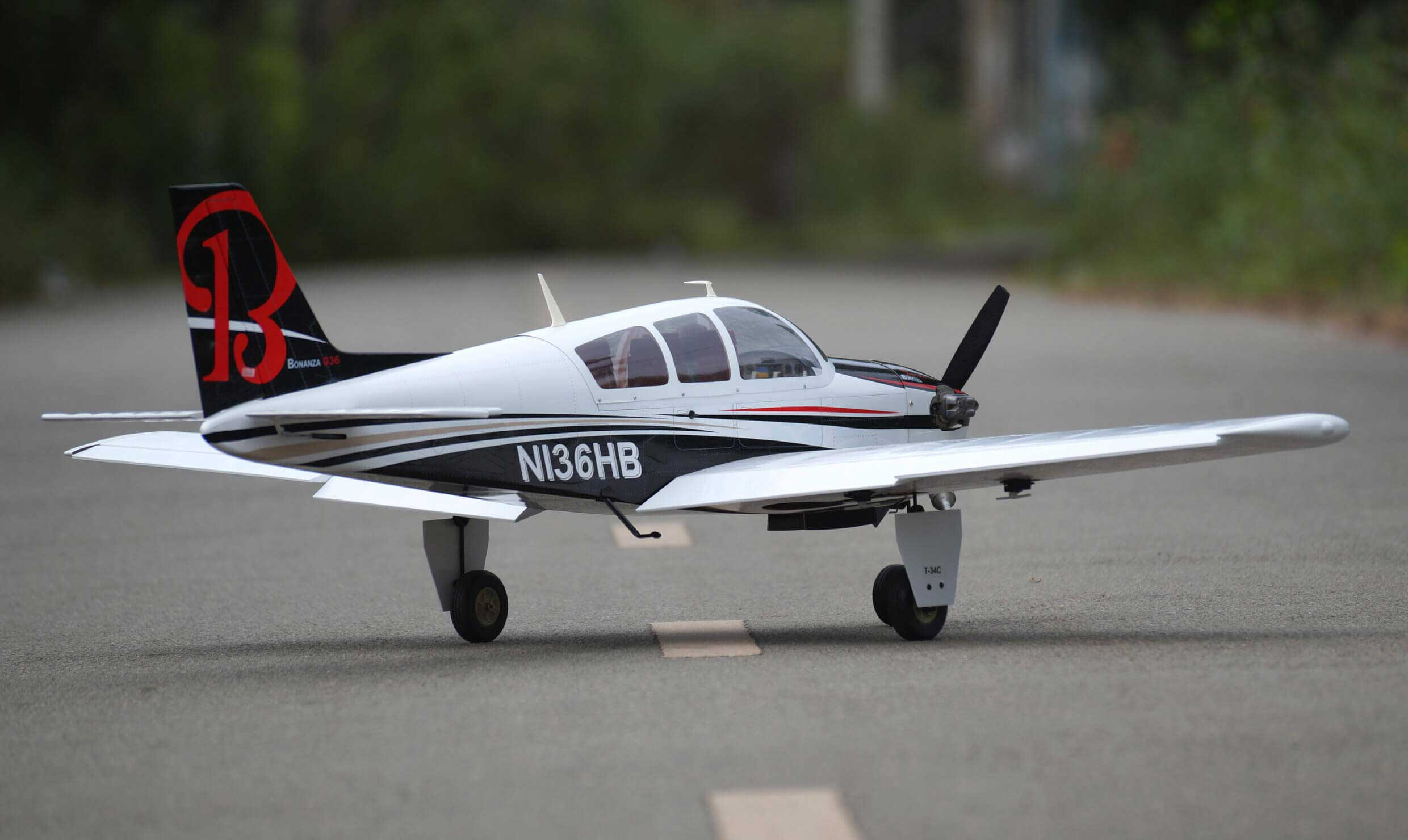 Beechcraft Bonanza 46 size EP-GP US version