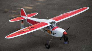 Scooter-M 46 size EP-GP ( wingspan 1,6m ) Red version  Scooter-M 46