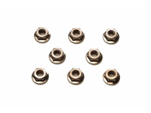 タミヤ 4mmセレーションホイールナット (ブラック・8個) 42282