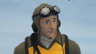 パイロット人形(P-47D 20 size )