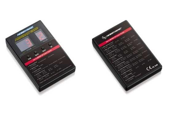HOBBYWING QuicRUN-WP-CRAWLER-Brushed BEC内蔵3A/6V/7.4V 1/8 1/10用 ESCプログラムカード 30112750