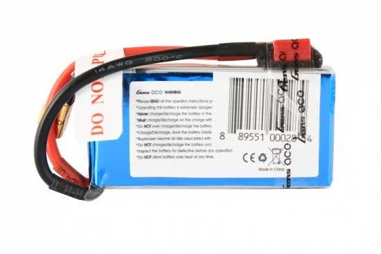 Gens ace 1000mAh 7.4V 25C 2S1P Lipoバッテリー Deans plug