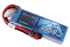 Gens ace 1550mAh 7.4V 25C 2S1P Lipoバッテリー Deans plug