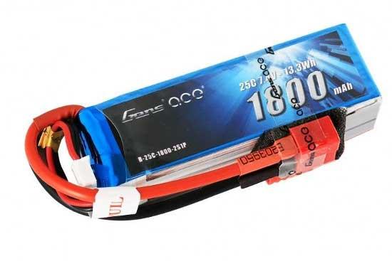 Gens ace 1800mAh 7.4V 25C 2S1P Lipoバッテリー Deans plug