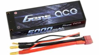 Gens ace 5000mAh 7.4V 50C 2S1P HardCase Lipo Battery Pack