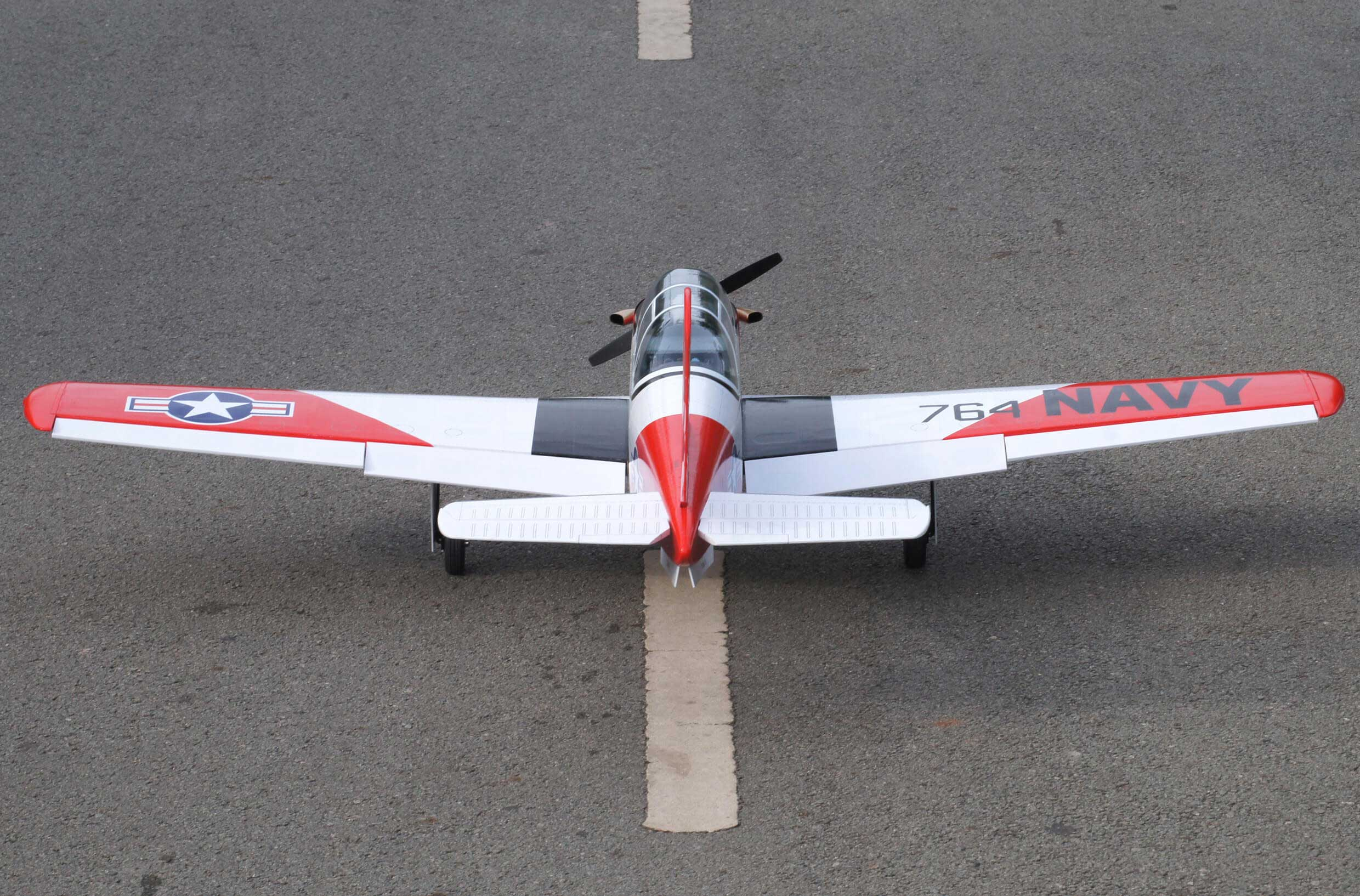 T-34 Turbo Mentor 46 size EP-GP Red-white version ターボメンター 両用機