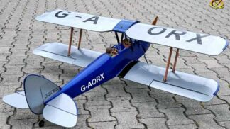 Tiger Moth 46 size EP-GP Dark - Blue version ( 1,4m wingspan)