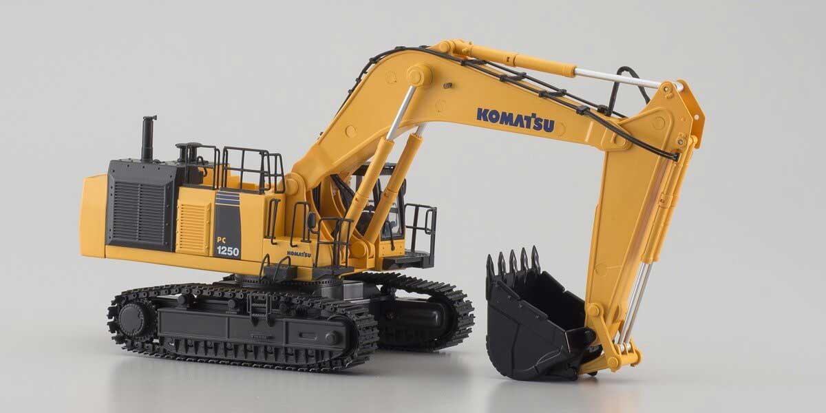 京商 1/50スケール 完全完成テーブルトップ IRC 建設機械 油圧ショベル  KOMATSU PC1250-8(HG) 66002HGB
