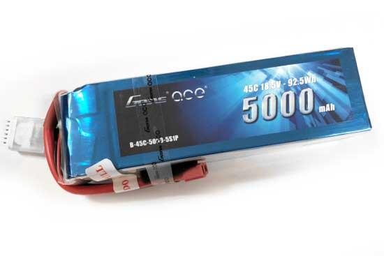 Gens ace 5000mAh 18.5V 45C 5S1P Lipoバッテリー Deans plug
