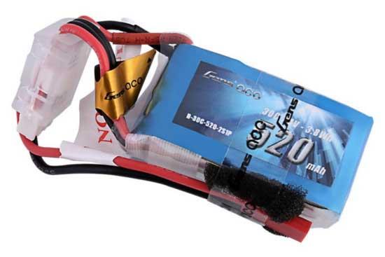 Gens ace 520mAh 7.4V 30C 2S1P Lipoバッテリー JST-SYP plug