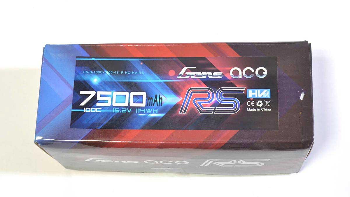 Gens ace 7500mAh 15.2V 100C 4S1P HardCase Lipo Battery Pack