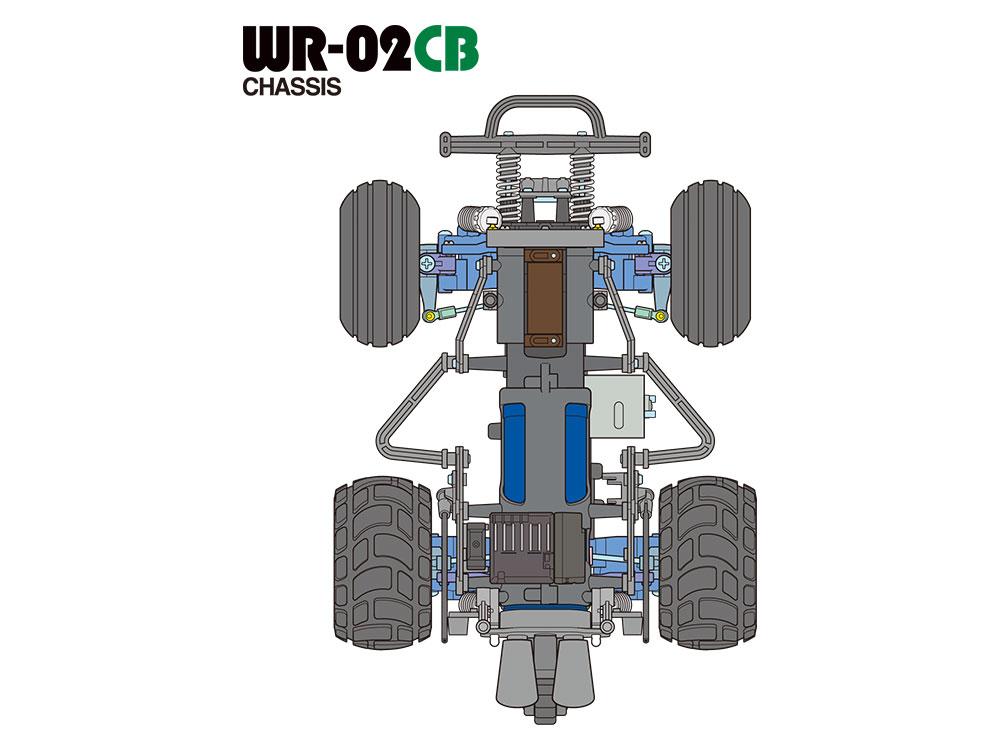 タミヤ 1/10RC コミカル グラスホッパー(WR-02CBシャーシ) 58662