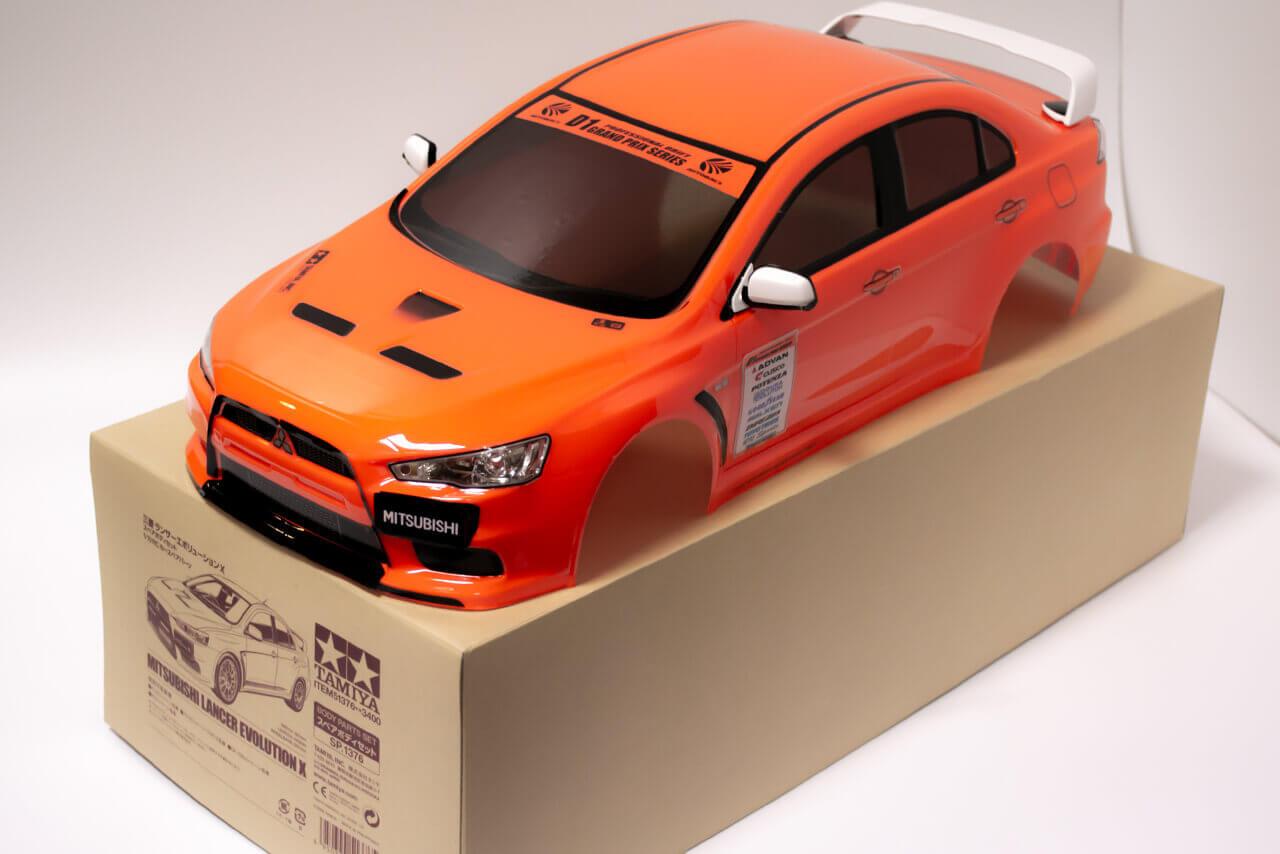 【中古販売】 タミヤ 三菱ランサーエボリューションX スペアボディセット 塗装済み