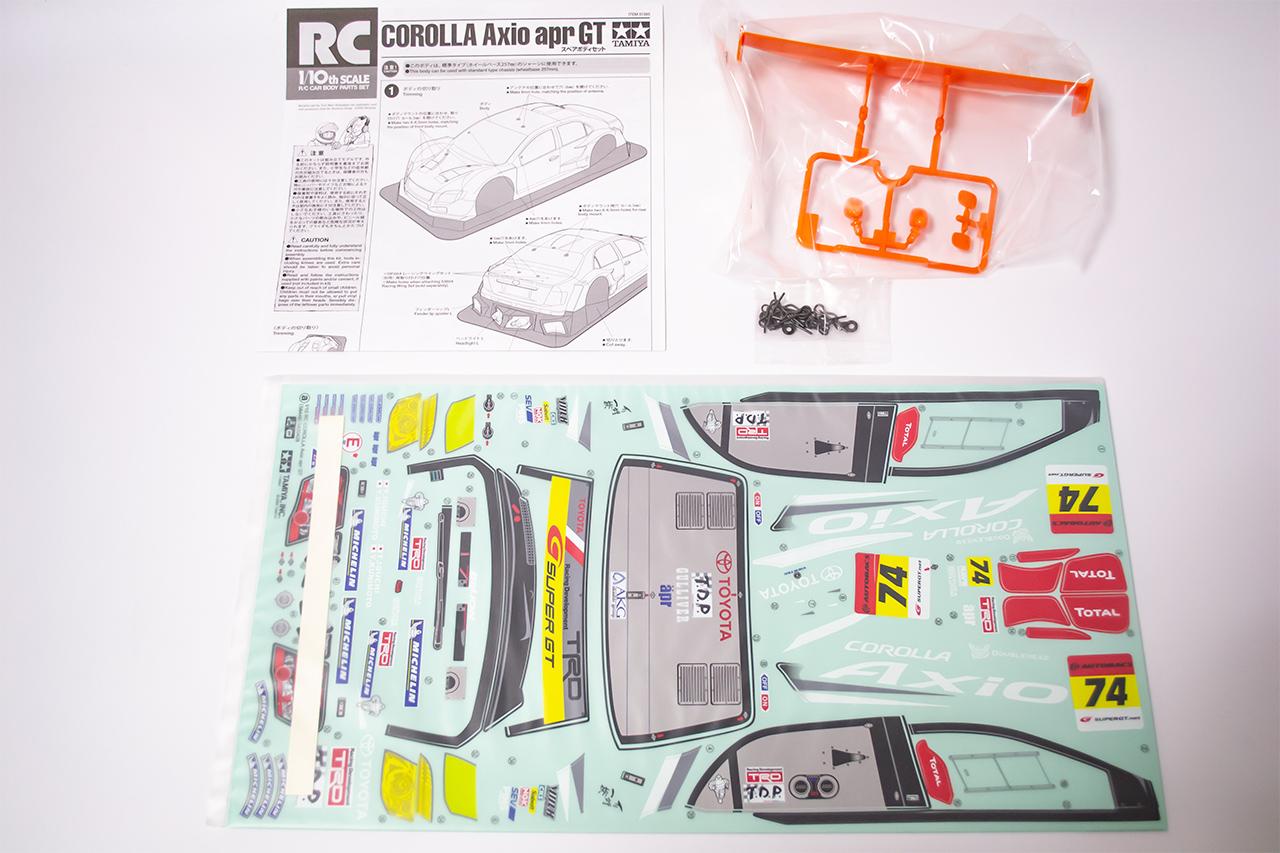 【中古販売】 タミヤ COROLLA Axio apr GT スペアボディセット