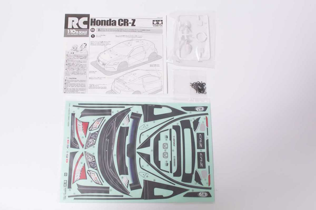 【中古販売】 タミヤ 1/10  Honda CR-Z クリアボディ カット済み
