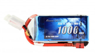 Gens ace 1000mAh 11.1V 25C 2S1P Lipoバッテリー Deans plug