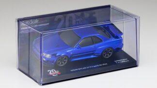 京商 オートスケールコレクション ミニッツAWD MA-020用 日産 スカイライン GT-R V・Spec Ⅱ Nur (R34) クロームブルー ミニッツ 20th Anniversaryスペシャルエディション MZP427CBL