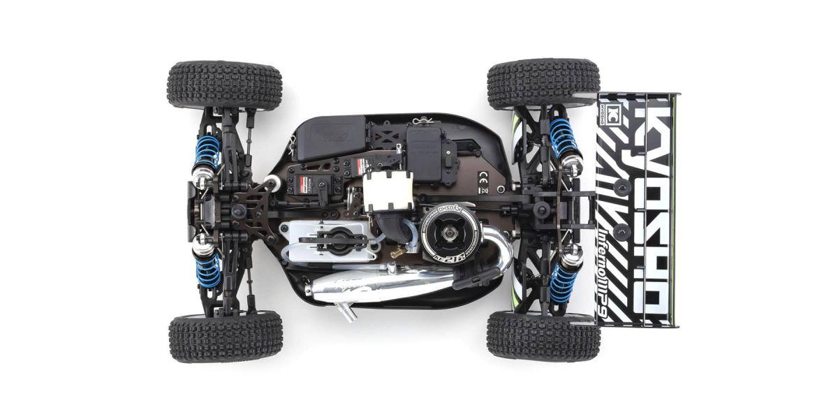 京商 1/8スケール ラジオコントロール 21エンジン 4WDレーシングバギー レディセット インファーノ MP9 TKI4 V2 33021