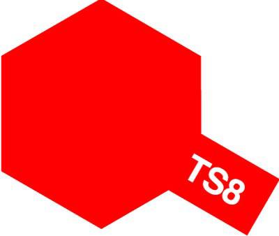 タミヤ TS-8 イタリアンレッド  85008