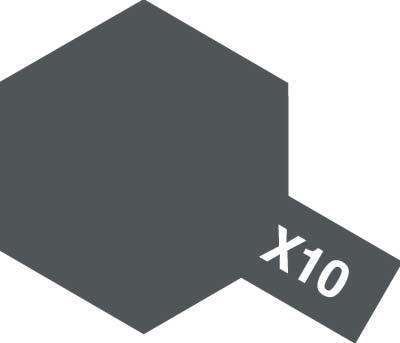 タミヤ タミヤカラーアクリルミニ X-10 ガンメタル 81510