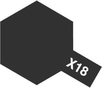 タミヤ タミヤカラーアクリルミニ X-18 セミグロスブラック 81518
