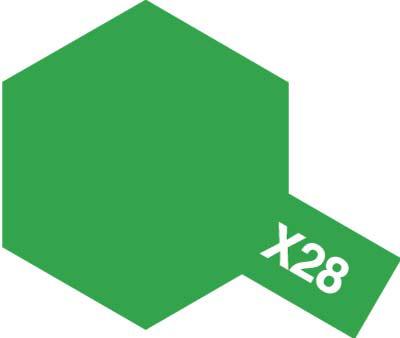 タミヤ タミヤカラーアクリルミニ X-28 パークグリーン 81528
