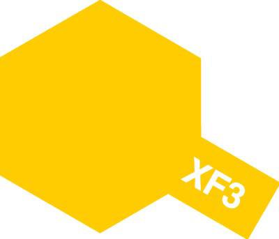 タミヤ タミヤカラーアクリルミニ  XF-3 フラットイエロー 81703