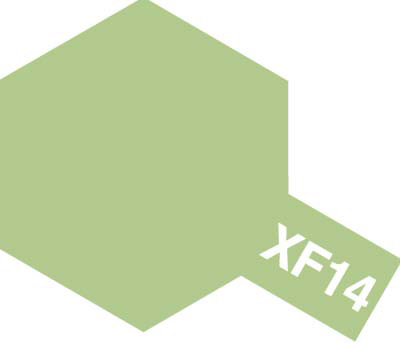 タミヤ タミヤカラーアクリルミニ  XF-14 明灰緑色 81714