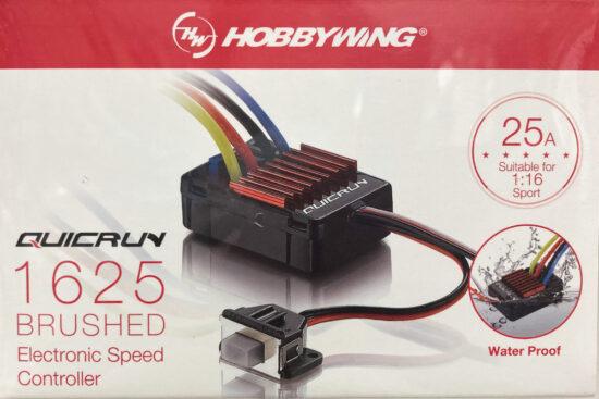 HOBBYWING QuicRUN-WP-1625-Brushed BEC内蔵1A/5V【1/16, 1/18用】 3012000
