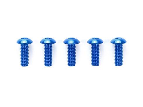タミヤ OP.766 3×8mm六角ボタンヘッドビス ブルー(5本)  53766