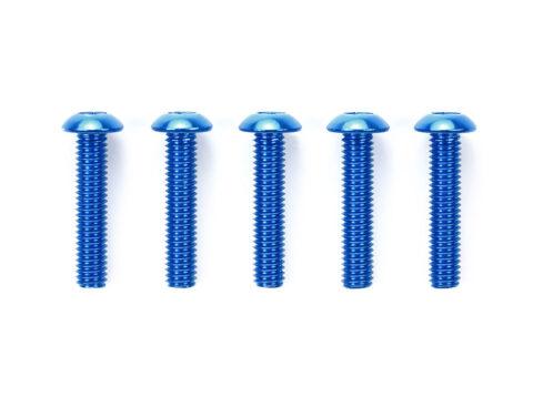 タミヤ OP.769 3×14mm六角ボタンヘッドビス ブルー(5本)  53769