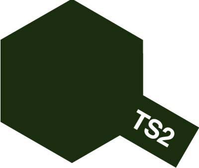 タミヤ TS-2 ダークグリーン 85002 (旧価格品)