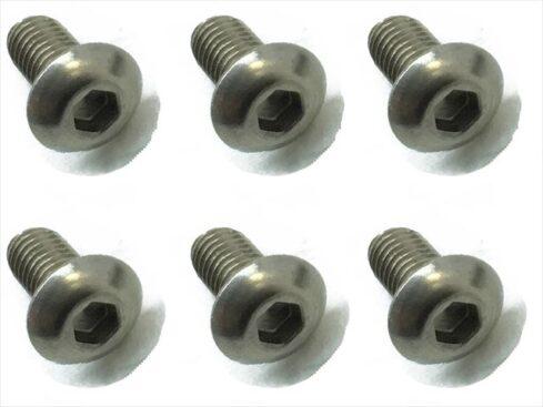 スクエア チタンヘックスナベビス 6本入 3×6 Titanium hex Pan Head Screw 3×6 (6 pcs.) NTR-306