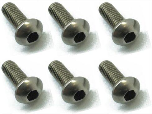 スクエア チタンヘックスナベビス 6本入 3×8 Titanium hex Pan Head Screw 3×8 (6 pcs.) NTR-308