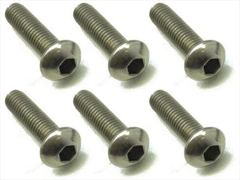 スクエア チタンヘックスナベビス 6本入 3×12 Titanium hex Pan Head Screw 3×12 (6 pcs.) NTR-312