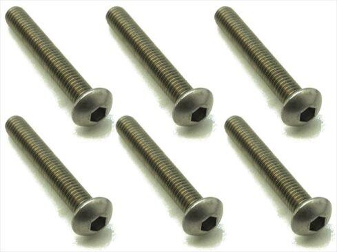 スクエア チタンヘックスナベビス 6本入 3×20 Titanium hex Pan Head Screw 3×20 (6 pcs.) NTR-320