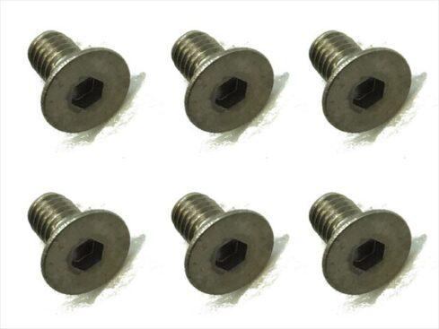 スクエア チタンヘックス皿ビス 6本入 3×6 Titanium hex Flat Head Screw 3×6 (6 pcs.) STR-306