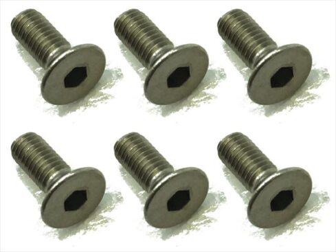 スクエア チタンヘックス皿ビス 6本入 3×8 Titanium hex Flat Head Screw 3×8 (6 pcs.) STR-308