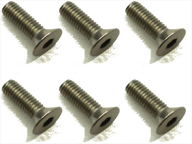 スクエア チタンヘックス皿ビス 6本入 3×10 Titanium hex Flat Head Screw 3×10 (6 pcs.) STR-310