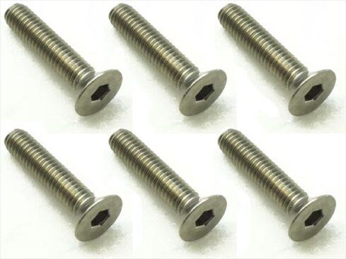 スクエア チタンヘックス皿ビス 6本入 3×14 Titanium hex Flat Head Screw 3×14 (6 pcs.) STR-314