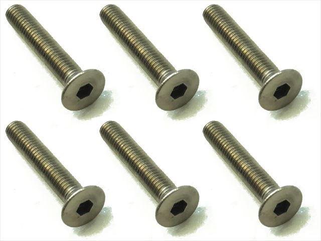 スクエア チタンヘックス皿ビス 6本入 3×18 Titanium hex Flat Head Screw 3×18 (6 pcs.) STR-318