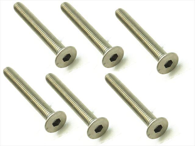 スクエア チタンヘックス皿ビス 6本入 3×25 Titanium hex Flat Head Screw 3×25 (6 pcs.) STR-325